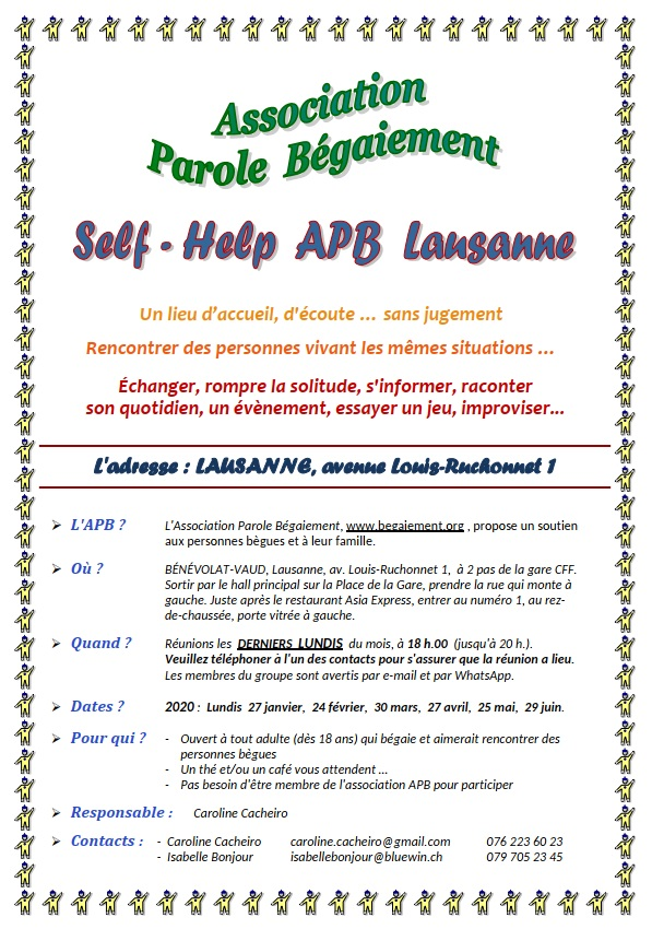 self-help groupe lausanne